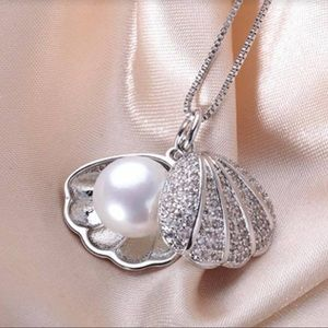 Jewelry - Silver Freshwater Pearl Shell Pendant Necklace